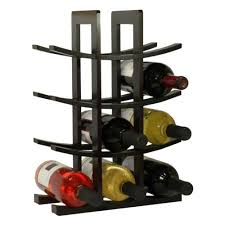 wooden wine rack 12 bottle bar kitchen storage liquor holder home