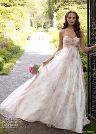 wedding dress david bridal david s bridal strapless printed organza a line gown style
