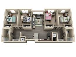 4 bedroom apartment floor plans university flats uk housing