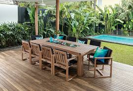 Outdoor Furniture Joondalup - shadow2 11 piece outdoor setting amart furniture