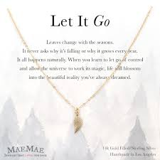 leaf charm necklace images Maemae jewelry dainty leaf charm pendant let it go necklace jpg