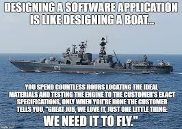 Boat Meme - 22 useful software development analogies meme version