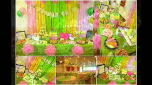 How To Decorate Birthday Party At Home by Cute Tinkerbell Themed Birthday Party Ideas Youtube