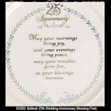 25th wedding anniversary plates belleek blessing plate 25th wedding anniversary