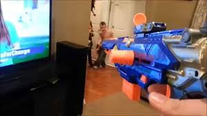 daddy and kids playing nerf guns youtube