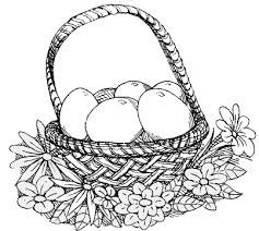 easter basket coloring easter basket coloring pages free