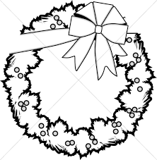 16 ornament clipart black and white merry