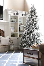 9 foot king flock artificial tree with 950 warm white led