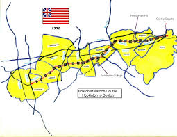 Boston Marathon Route Map by Newmap Jpg