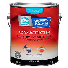 Exterior Paint Lowes - shop hgtv home by sherwin williams ovation black high gloss latex