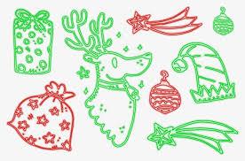 neon christmas vector elements neon elk fukubukuro png and
