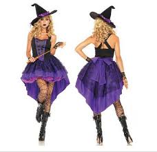 Witch Halloween Costumes Adults Halloween Witch Costume Women Fashion Swallow Tail Braces