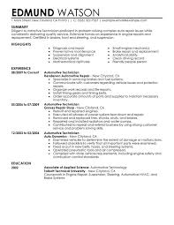 Sample Objectives In A Resume by Unforgettable Automotive Technician Resume Examples To Stand Out