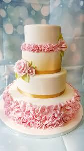 wedding cake essex wedding cake ruffles roses ravens bakery of essex ltd