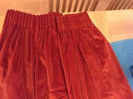 Deep Red Velvet Curtains Velvet Curtains Second Hand Curtains And Blinds Buy And Sell In