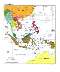 Southern And Eastern Asia Map by Map Of Australia And Southeast Asia Fair South East Australia Map
