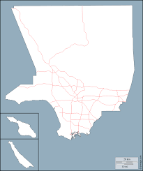 County Map Of Los Angeles by Los Angeles County Free Map Free Blank Map Free Outline Map