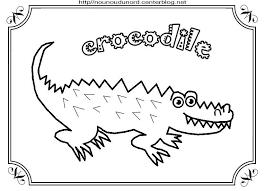 crocodile Coloriage à gommettes en couleur