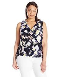 Draped Neckline Tops Ellen Tracy Women U0027s Plus Size Drape Neck Top At Amazon Women U0027s