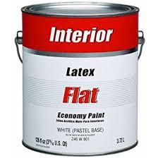 Interior Flat Paint Economy Interior Latex Flat Wall Paint House Paint Amazon Com