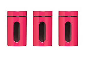 pink canisters kitchen premier housewares storage canisters pink set of 3