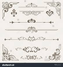 vintage ornament design element stock vector 128397473