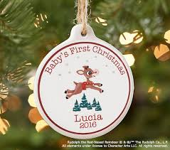 First Christmas Personalized Ornaments - baby u0027s first christmas rudolph the red nosed reindeer
