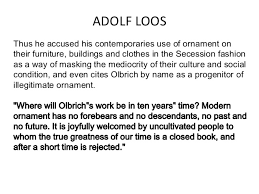 birth of modernity adolf loos