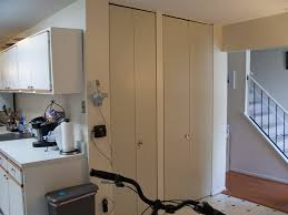 Ceiling Mount Door Track by Installing Ikea Pax Doors As Sliding Closet Doors Ikea Hack