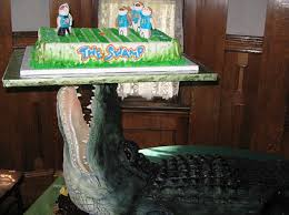 icing on the cake groom orders two foot alligator for wedding