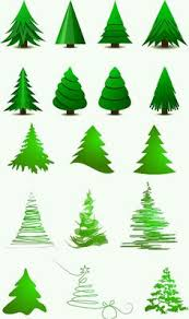 Free Christmas Decorations Various Christmas Tree Collection Free Vector Graphics Vector