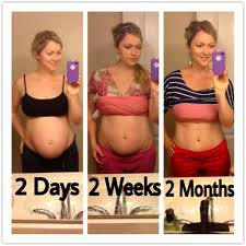 weight loss 2 months after pregnancy picture before and after