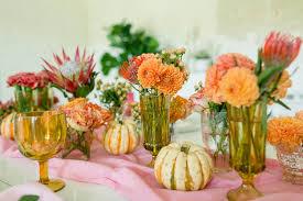pink orange fall tablescape u2013 a beautiful mess