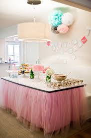 Baby Shower Table Setup by Top 25 Best Tulle Tablecloth Ideas On Pinterest Tulle Table