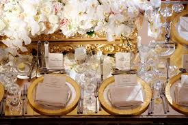 Wedding Reception Table Settings Reception Décor Photos Table Setting With Gold Chargers Inside