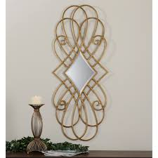 uttermost 07674 lilou decortive iron mirror in gold leaf