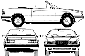 old maserati biturbo car blueprints чертежи автомобилей maserati