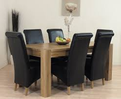 ebay uk dining table solid oak and chairs details about kuba black ebay uk dining table solid oak and chairs details about kuba black leather