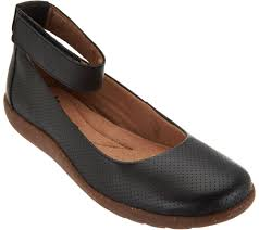 clarks shoes black friday clarks leather perforated flats medora nina page 1 u2014 qvc com