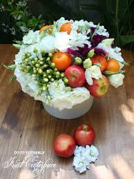 fruit and flowers fruit and flower do it yourself centerpieces