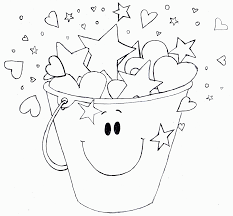 fill a bucket coloring page coloring home