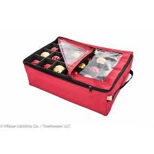 santas bags ornament keeper with 2 trays walmart