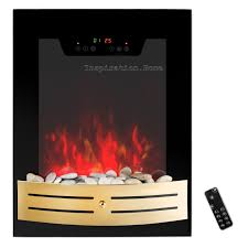 wall mount tempered glass electric fireplace heat touch screen