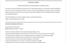 Wedding Resume Sample by Planner Resume Example Manufacturing Scheduler Sample Resume