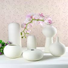 ceramic vase ornaments insert small white vase creative home