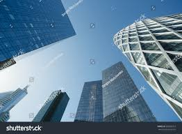 modern buildings skyscrapers glass facade modern buildings paris stock photo