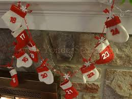 advent calendar garland wintry mittens and stockings yonder