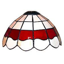 how to tea stain glass l shades tiffany style white and red stained glass pendant light shade