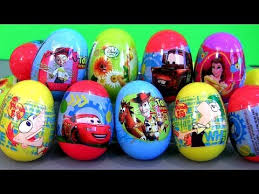 easter eggs filled with toys phineas ferb easter toys disney pixar cars 2