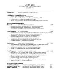 example of resume for operators resume template example